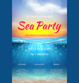realistic summer poster pool party design ocean vector image vector image