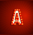 retro style letter a vector image vector image