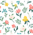 seamless bright scandinavian floral pattern great vector image vector image