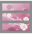 set horizontal banners with flowers vector image vector image