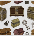 set of chest pattern vector image