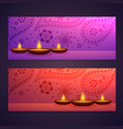set of diwali festival banners vector image vector image