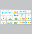 set of startup and business elements for vector image vector image