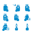 Set of tourist coocking equipment icons vector image vector image
