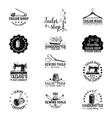 set vintage tailor labels vector image