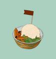 shave ice dessert sketch vector image vector image
