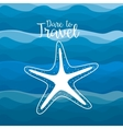 star fish travel poster vector image vector image