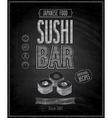 sushi bar chalk vector image vector image