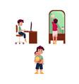 Teen boy household activities set