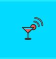 the glass and signal logo design symbol dan icon vector image