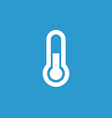 thermometer icon white on blue background vector image