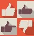 thumbs up like dislike icons for social network vector image vector image