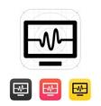 TV signal icon vector image vector image