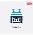 two color golden state icon from united states vector image vector image