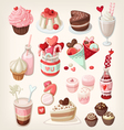 valentine food vector image vector image