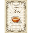 Vintage tea posters vector image