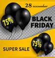 black friday bannerblack friday sale design vector image