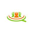 people employee job group logo vector image