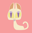 cute kitty and cat characters design vector image
