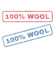 100 percent wool textile stamps vector image vector image