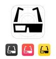 3D cinema glasses icon vector image vector image
