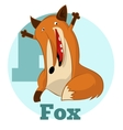 ABC Cartoon Fox2 vector image vector image