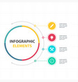 abstract circle infographic elements with four opt vector image vector image