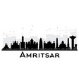 amritsar city skyline black and white silhouette