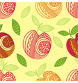 Apple seamless pattern background vector image vector image