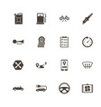 automobile - flat icons vector image