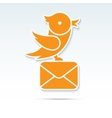 Bird carrying a letter vector image vector image