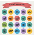 Black email icons set