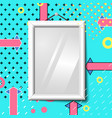 bright realistic poster frame abstract eps vector image vector image