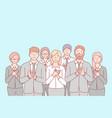 business team congratulation applause concept