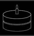 cake with candle the white path icon vector image vector image