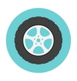 Car wheel flat icon vector image vector image
