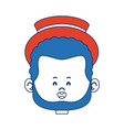 cartoon man face avatar character male cute vector image vector image