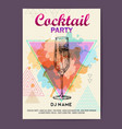 champagne on polygon watercolor background vector image vector image