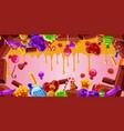 Chocolate factory banner horizontal cartoon style