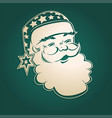 christmas drawing of a smiling santa claus vector image