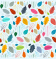 colorful leaves seamless pattern suitable vector image vector image
