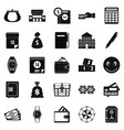 contribution icons set simple style vector image vector image