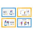 coronavirus prevention measures landing page vector image