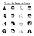 cough sneeze icons set graphic design vector image vector image