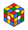 cube scrambled 3d combination puzzle icon vector image vector image
