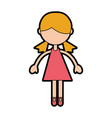 cute pink girl cartoon vector image vector image