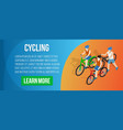 cycling concept banner isometric style vector image