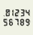 Digital numbers vector image vector image