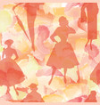 fashion women background lady retro dress vector image vector image