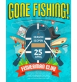 Fishing Poster With Date Of Season Opening vector image vector image